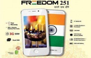 Freedom 251 smartphone,cheapest Indian phone,Rs 251 only,specification